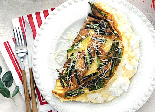 omlet-s-zelenoj-fasolyu-i-rikottoj